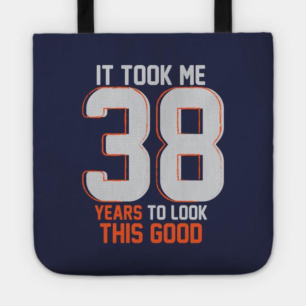 Funny 38th Birthday Pun Design Gift Ideas Tote