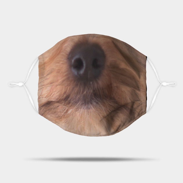 yorkshire terrier cute funny dog face mask yorkie