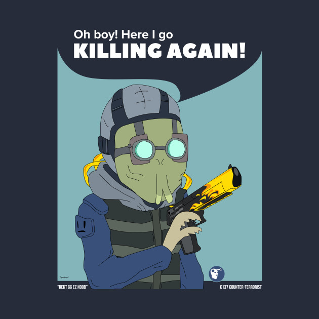 Oh boy! Here I Go Killing Again! Rick and Morty in CSGO