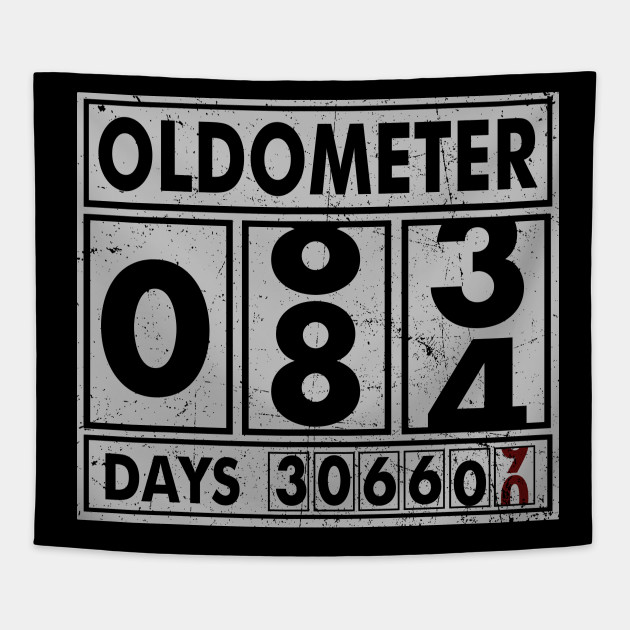OLDOMETER 84 Years Old Made In 1934 84th Birthday Tapestry