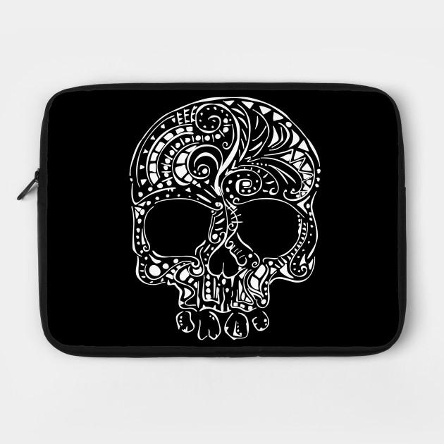 Tribal tattoo style gothic skull