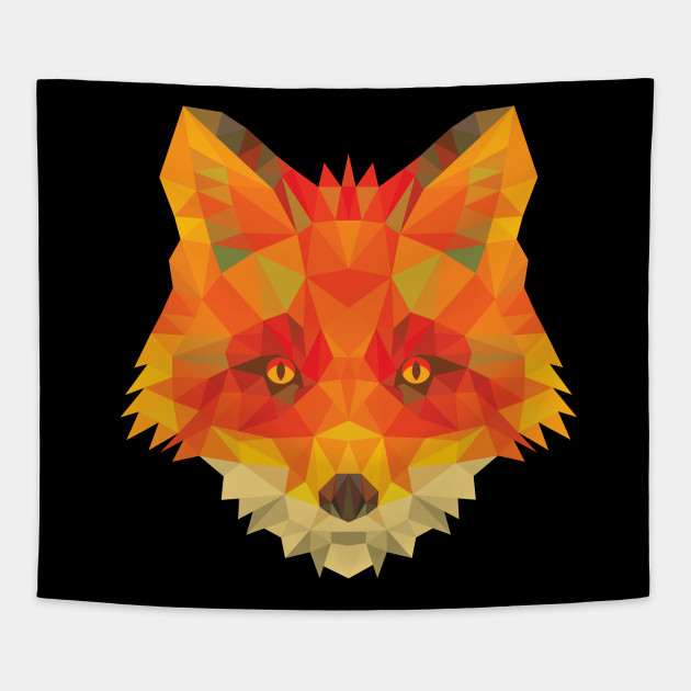 Abstract Fox Head With Geometric Shapes I Art Tee