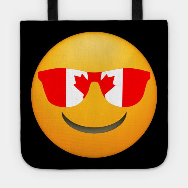 Cool Emoji Canada Flag Sunglasses Funny Canadian Design
