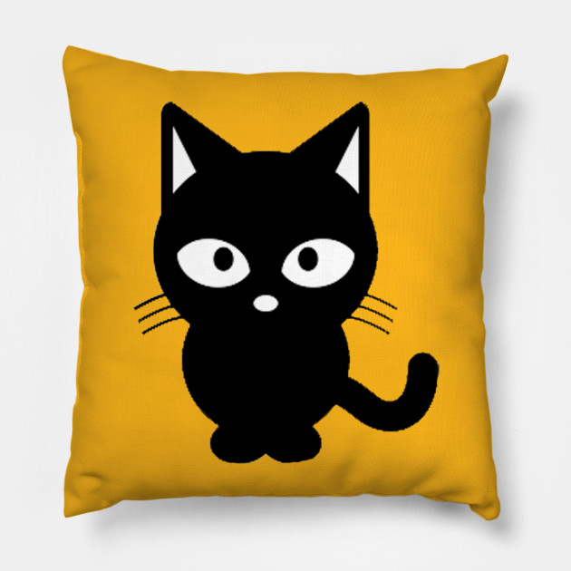 cute cat black and white clipart cats pillow teepublic cute cat black and white clipart