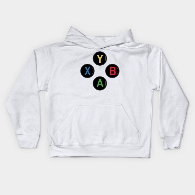 Xbox Console Joypad Buttons Hooded Sweater Hoody