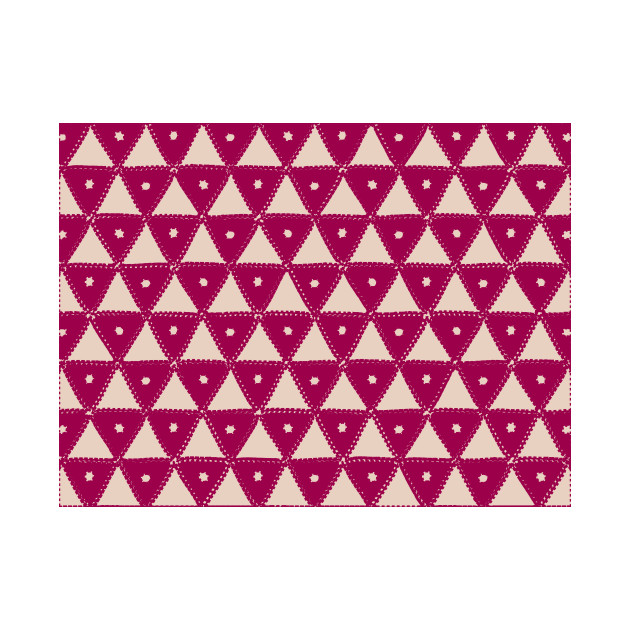 Pink Modern Triangle Pattern