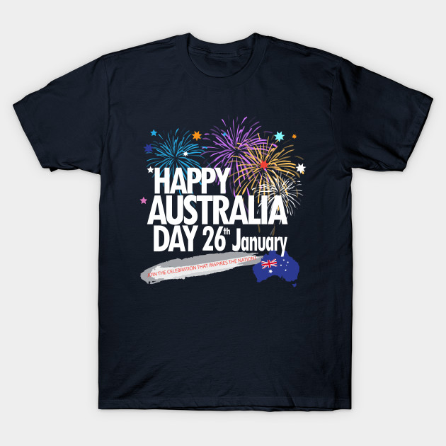 Happy Australia Day 26th January inscription poster with ...