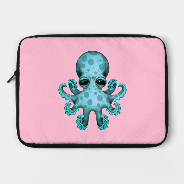 Cute Blue Baby Octopus