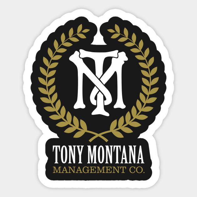 Tony Montana Management Co Scarface Sticker Teepublic
