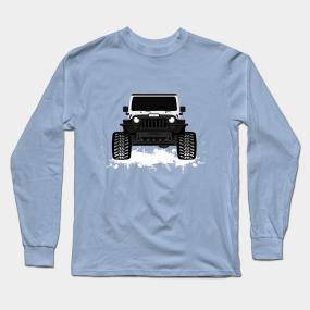 34fa15b9 [White jeep] black TJ grille Long Sleeve T-Shirt
