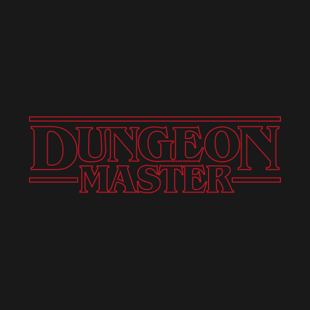 Dungeon Master - Stranger Things Typography DnD