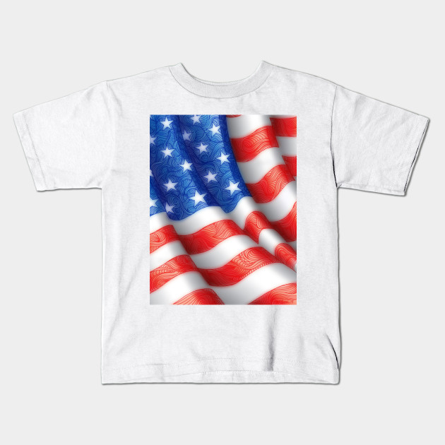 5507307d060 Wavy American Flag Red