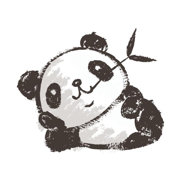 Panda that is relaxing