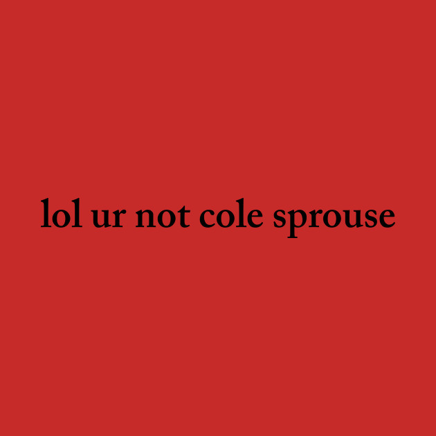 *:・゚✧ lol ur not cole sprouse *:・゚✧
