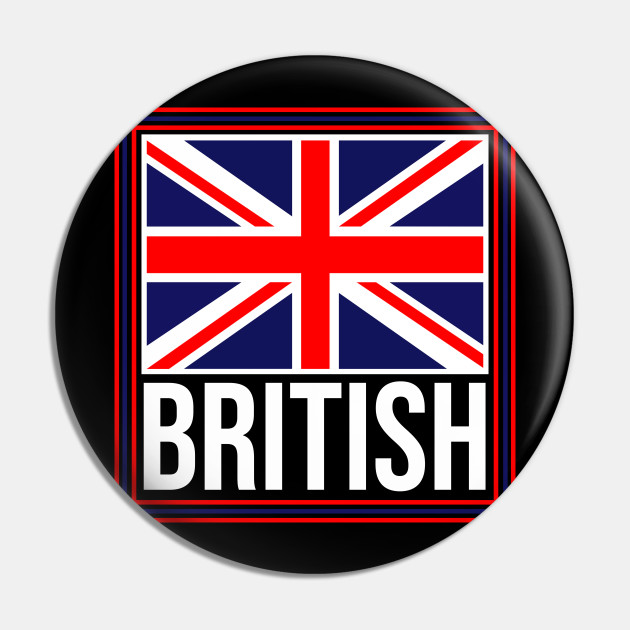 British Flag. Cool Union Jack Flag. Vintage English Flag