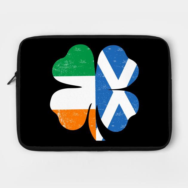 Scottish Flag Irish Shamrock Shirt St. Patricks Day