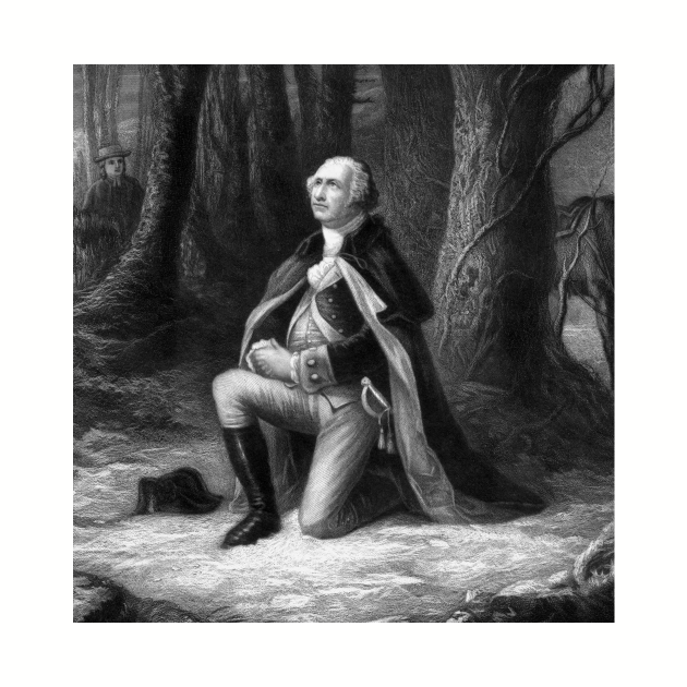 General Washington Praying At Valley Forge