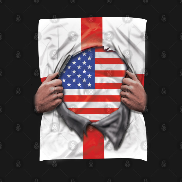 USA Flag English Flag Ripped - Gift for English From USA