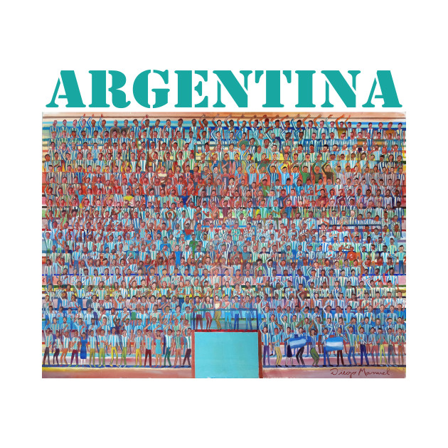 The Argentine fans are singing