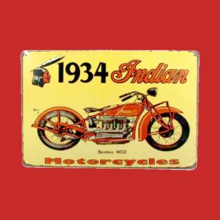 1934 Indian Motorcycle T-Shirt