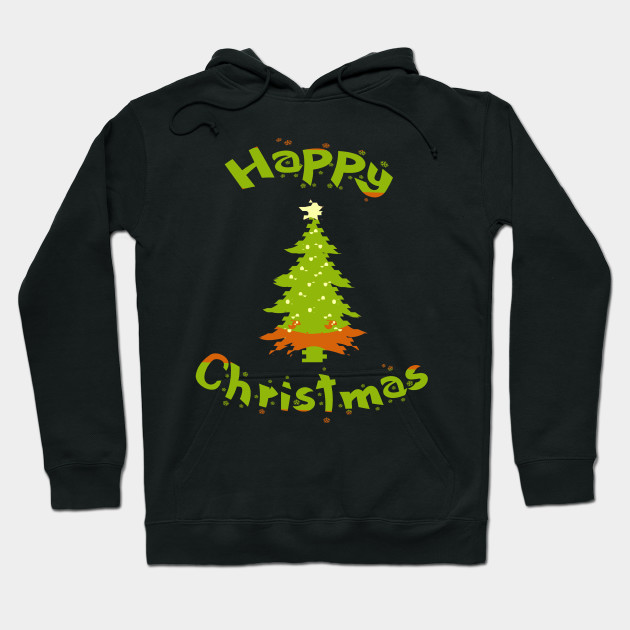 Beautiful Christmas tree Happy Christmas Hoodie