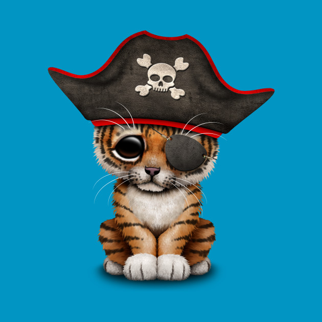 Cute Baby Tiger Cub Pirate