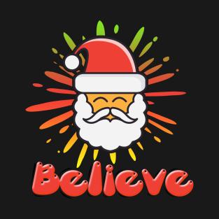 Believe Christmas Santa Claus Nicholas t-shirts