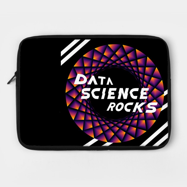 Data Science Rocks | Retro Racing Stripes Logo Yellow Red Black