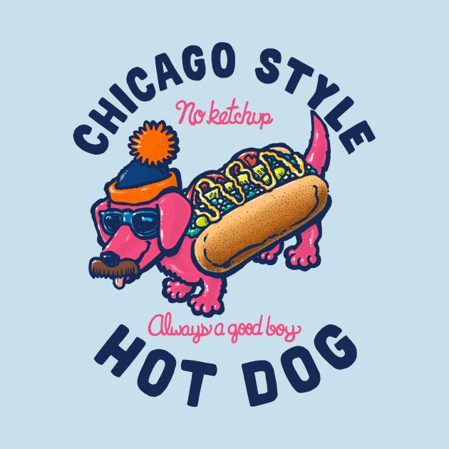 Da Chicago Dog With Text