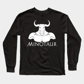 19b3eeea Minoan Greek Mythology Minotaur Long Sleeve T-Shirt