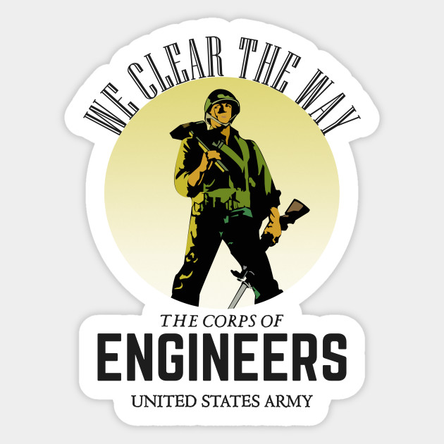 United States Army Corp of Engineers Sticker Die Cut Decal