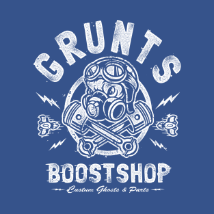 Grunts Boost Shop t-shirts