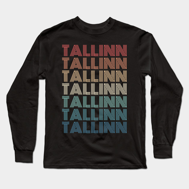 Tallinn City Vintage Long Sleeve T-shirt