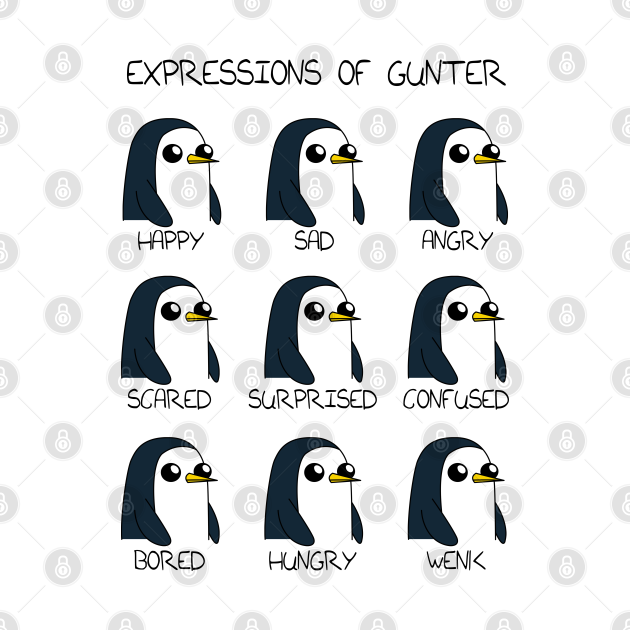 Expressions of Gunter - Adventure time