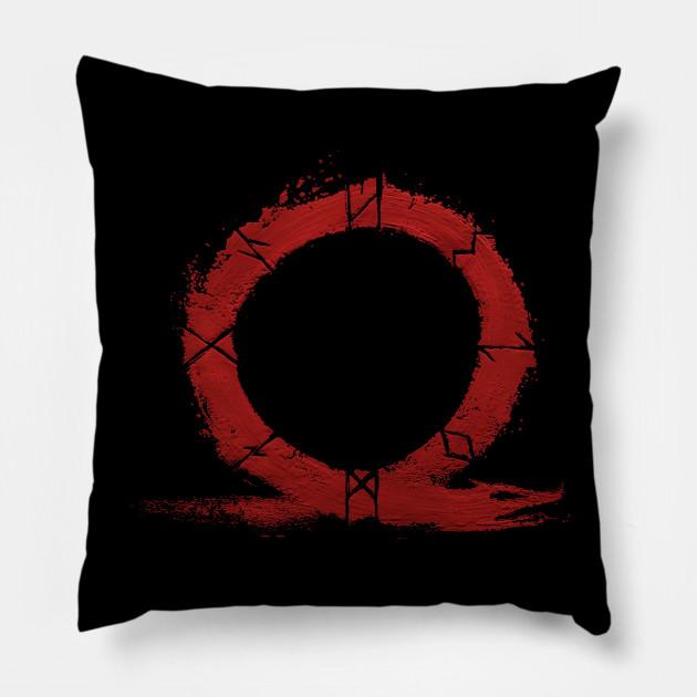 God Of War Ps4 Omega Symbol God Of War Pillow Teepublic
