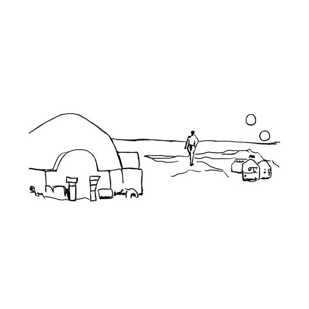 Tatooine line art