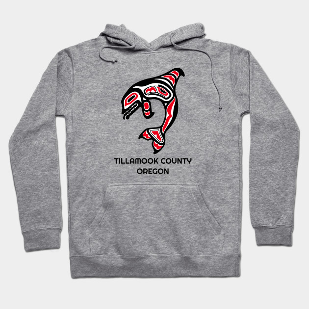Tillamook County, Oregon Red Orca Killer Whales Native American Indian Tribal Gift Hoodie