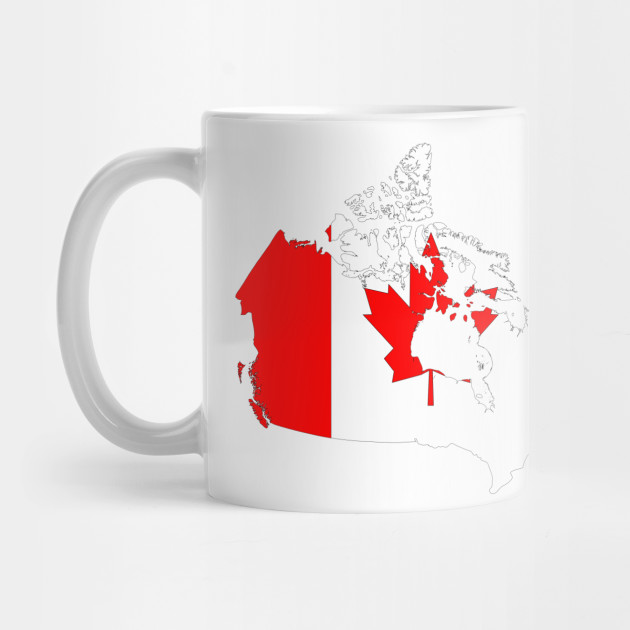 Canada Map Flag.Limited Edition Exclusive Canada Map Flag Canada Map Flag Mug
