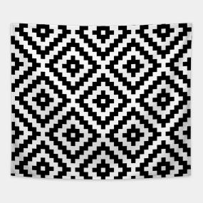 Navajo designs Tribal Aztec Block Symbol Ptn Bwi Tapestry Csdt Rpi Navajo Design Tapestries Teepublic