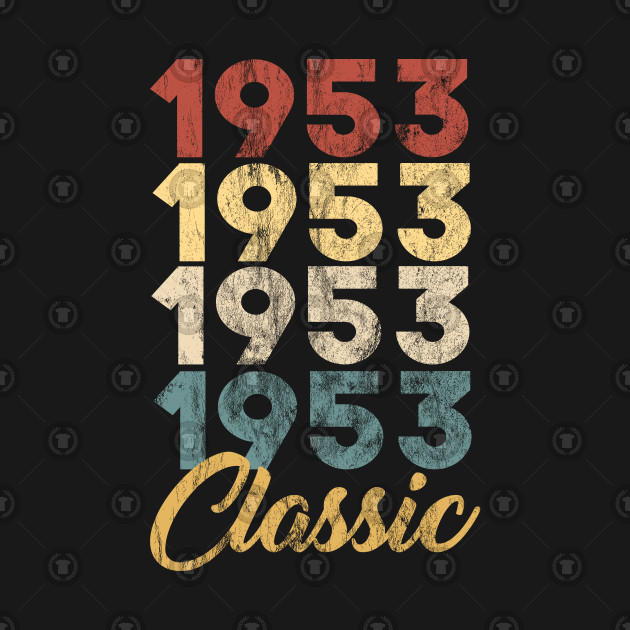 66th Birthday Gift for Men and Women Born in 1953 Classic 66th Birthday Party