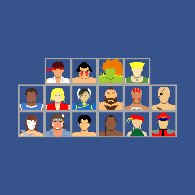 Select Your Character-Street Fighter 2: The New Challengers