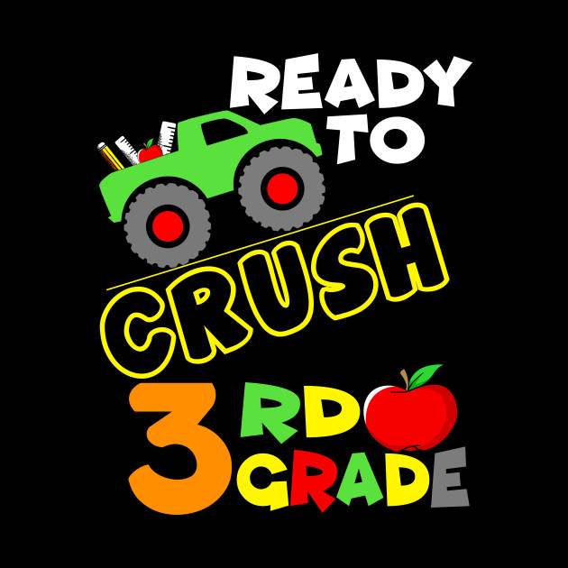 3rd Grade Monster Truck Back To School Boys Gift Back To School