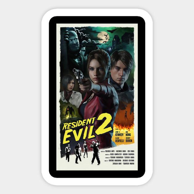 Resident Evil 2 Remake Poster Resident Evil 2 Remake Sticker Teepublic