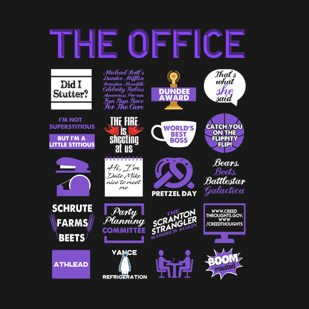 6516bf9da The Office Quote Mash-Up Funny T-Shirt - Official Tee - Office ...