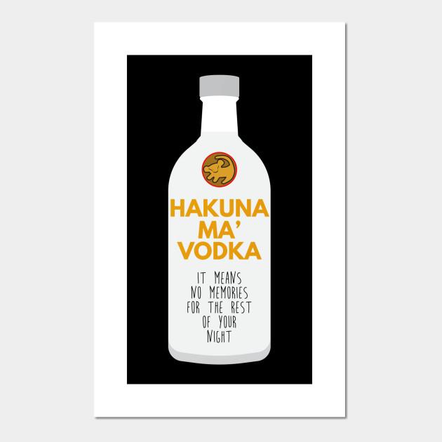 HAKUNA MA VODKA LADIES T SHIRT PARODY SPOOF ALCOHOL BEER SIMBA DRINKING DRUNK