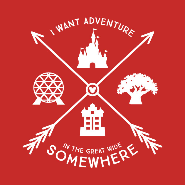 Adventure in the Great Wide Somewhere - 4 Disney World Parks design