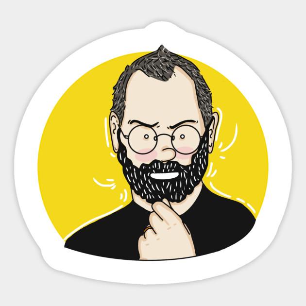 Steve Job Cartoon Steve Jobs Sticker Teepublic Au