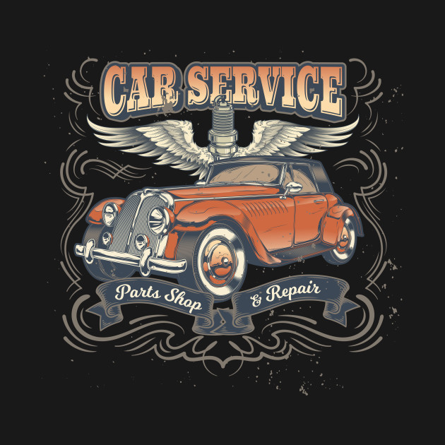 Car Service Mechanics Classic Auto