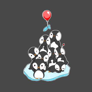 Cute penguin mountain t-shirts