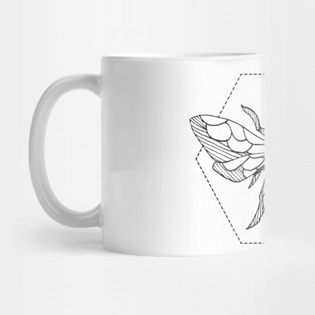 eb33d179 Pen & Ink Bee Tattoo - Bees - Mug | TeePublic